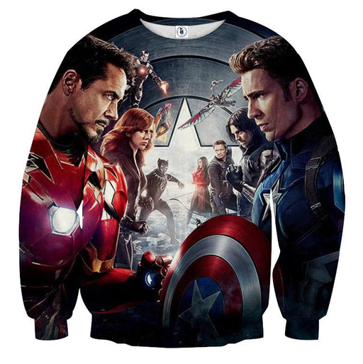 Marvel The Avengers Civil War Main Characters Swag Sweatshirt
