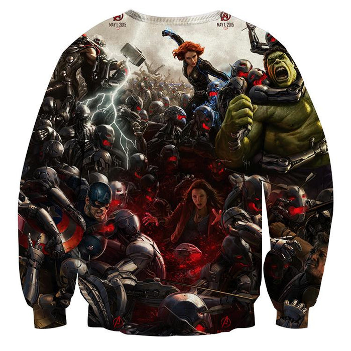 Marvel The Avengers Fighting Ultron Full Print 3D Sweatshirt
