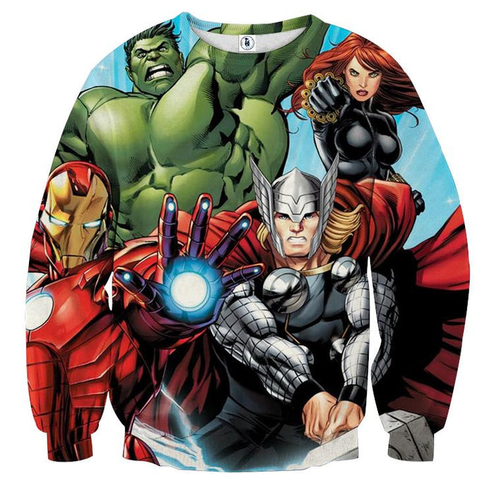 Marvel The Avengers Iron Man Repulsor Beam Unique Sweatshirt