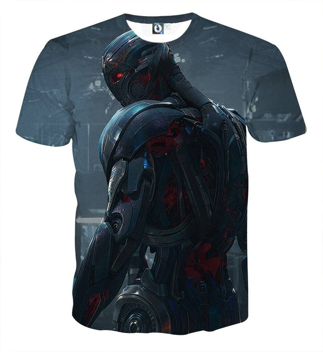 Marvel The Avengers Lonely Ultron Stylish Full Print T-Shirt