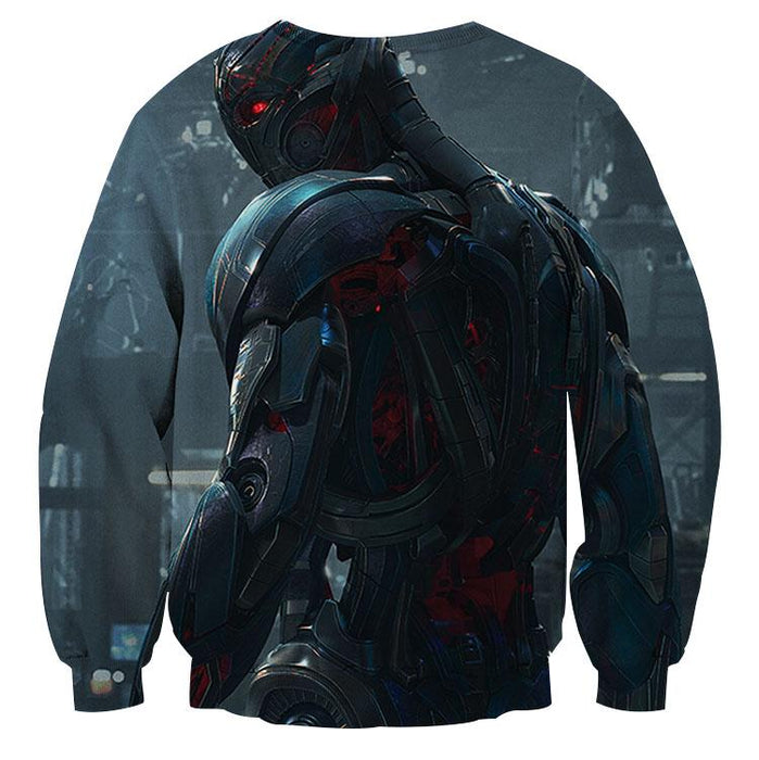 Marvel The Avengers Lonely Ultron Stylish Print Sweatshirt
