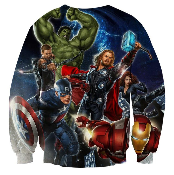 Marvel The Avengers Main Characters Flying Swag Sweatshirt
