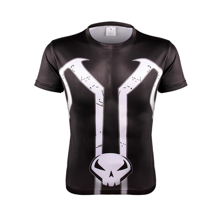 Marvel The Punisher Top Killer Skull Symbol Dope Fitness 3D T-shirt - Superheroes Gears