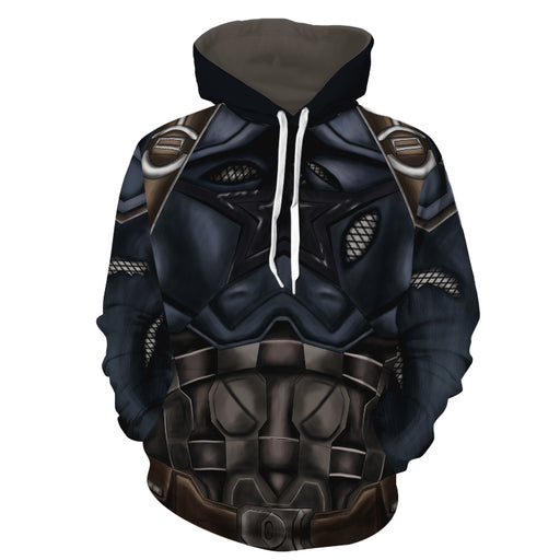 Marvel Tough Captain America Winter Soldier Cosplay Hoodie