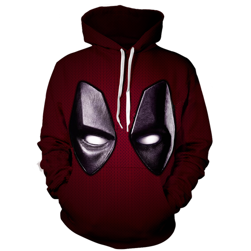 Marvel Wade Wilson Deadpool Red Suit Mask Costume 3D Hoodie