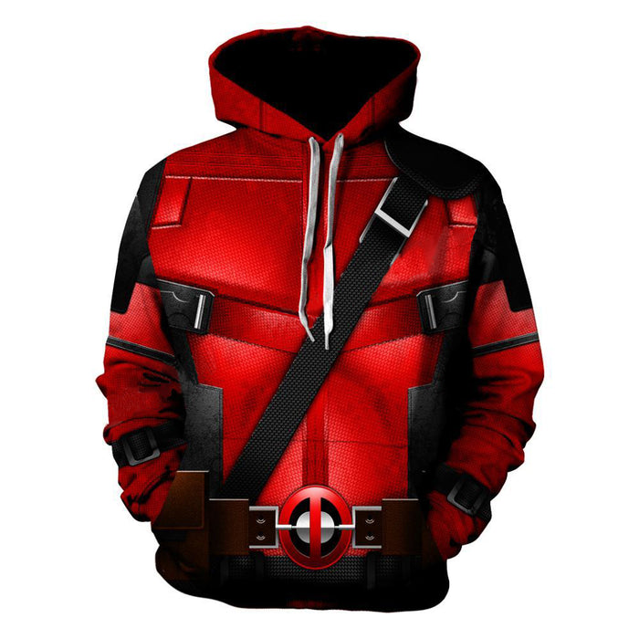 Marvel Wade Wilson Deadpool Uniform Costume Red Suit Hoodie