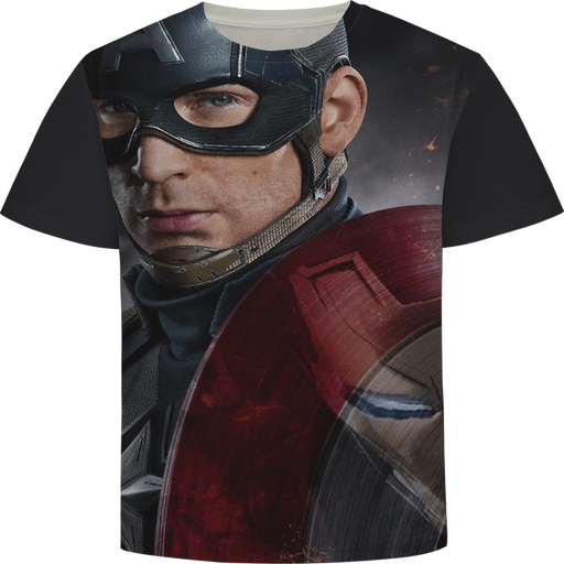 Marvel's Captain America Civil War Art Short Sleeve T-Shirt