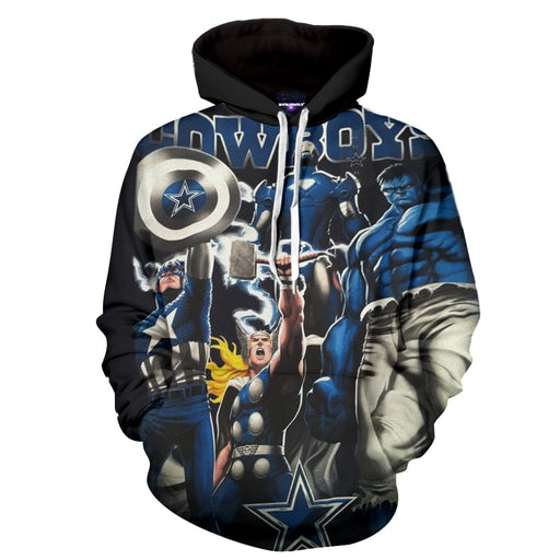 Marvel's The Avengers Powerful Squad Full Print Hoodie
