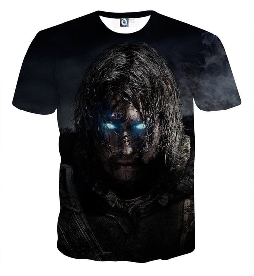 Middle Earth Shadow of Mordor Poster 3D Full Print T-Shirt