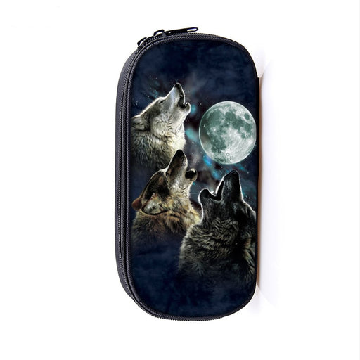 Mighty Wolfpack Howling under the Shady Moonlight Pencil Case