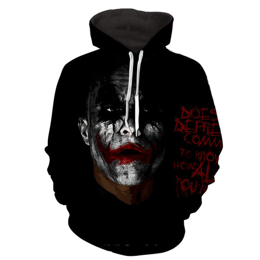 Miserable Empty Life Of Joker Design Full Print Hoodie