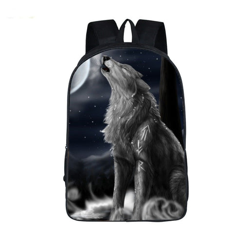 Mystical Gray Wolf Howl On A Flurry Night Adorbs Backpack