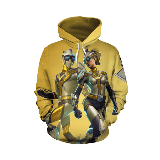 New Futuristic Ventura Fortnite Battle Gaming Yellow Hoodie