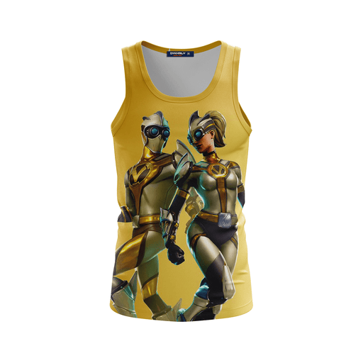 New Futuristic Ventura Fortnite Battle Gaming Yellow Tank Top