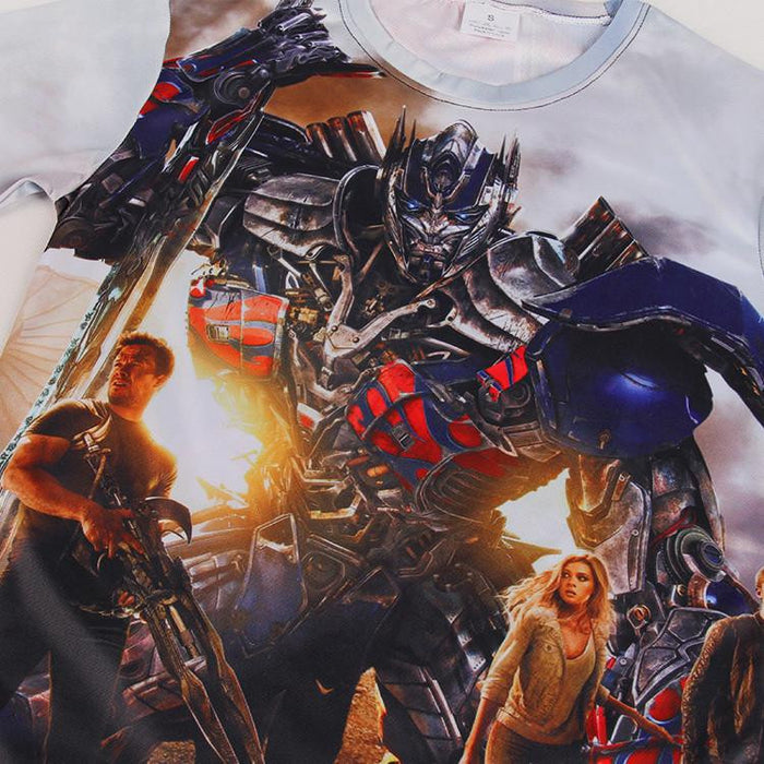 Optimus Prime Transformer-Age of Extinction Impressive Standing T-shirt