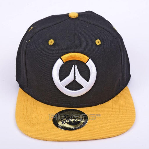 Overwatch Symbol Black Yellow Amazing Cool Snapback Hat Cap