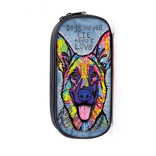 Picturesque Dog Canine Art Design Colorful Pencil Case