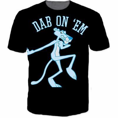 Pink Panther Turn Blue Dab Dance Posture Funny T-Shirt