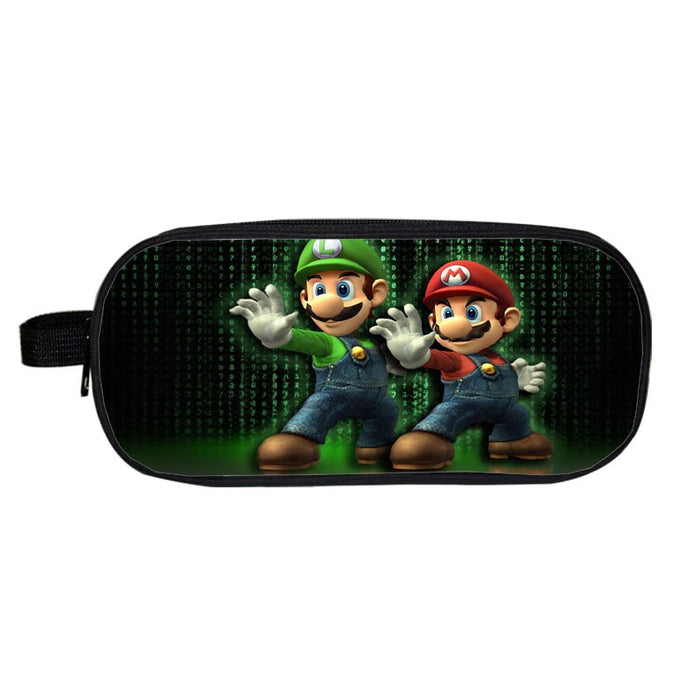 Super Mario Brothers Cool Mario Luigi Matrix Pencil Case