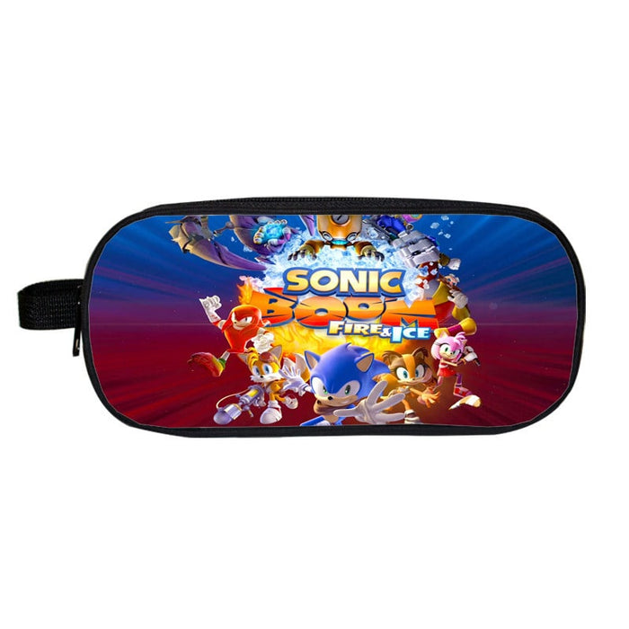 Sonic Boom Fire & Ice Awesome Characters Pencil Case