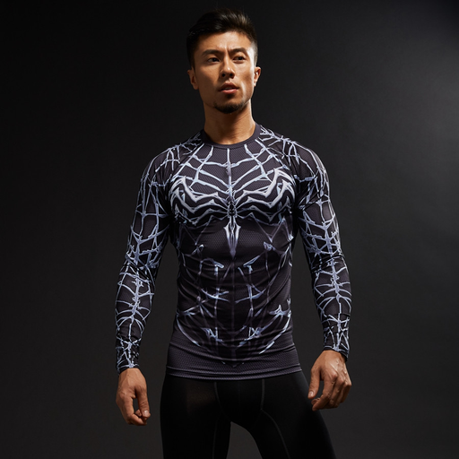 Marvel Venom Suit Long Sleeves Compression Cosplay 3D Shirt