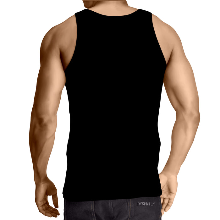 Ready To Fight Angry Killer Wolf Artwear Black Tank Top