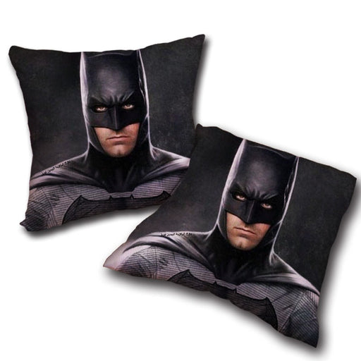 Realistic Batman Portrait In Cool Full Print Black Pillow