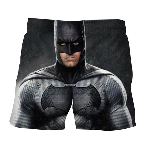Realistic Batman Portrait In Cool Full Print Black Short