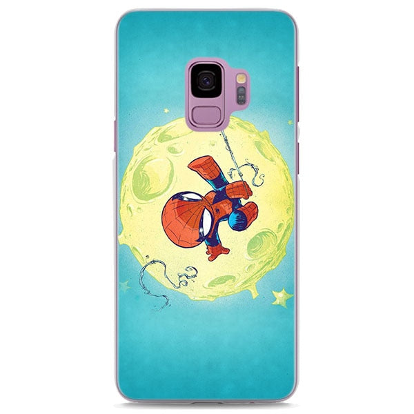 Cute Chibi Spiderman Moon Samsung Galaxy Note S Series Case