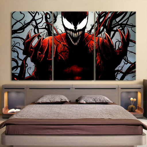 Spider-Man Enemy Carnage Design 3pcs Wall Art Canvas Print