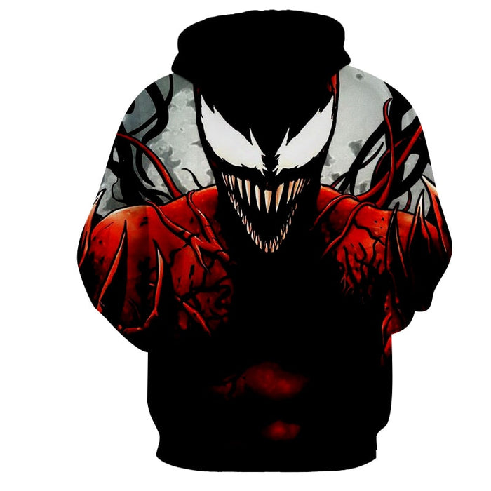 Spider-Man Enemy Carnage Design Full Print Cool Hoodie