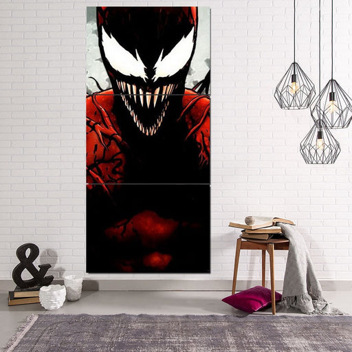 Spider-Man Enemy Carnage Portrait Design 3pcs Canvas Print