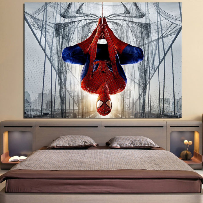 Spider-Man Rotate Mode 3D Design 1pcs Wall Art Canvas Print