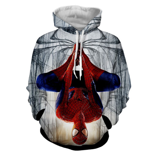 Spider-Man Rotate Mode Full Print Design Cool Hoodie