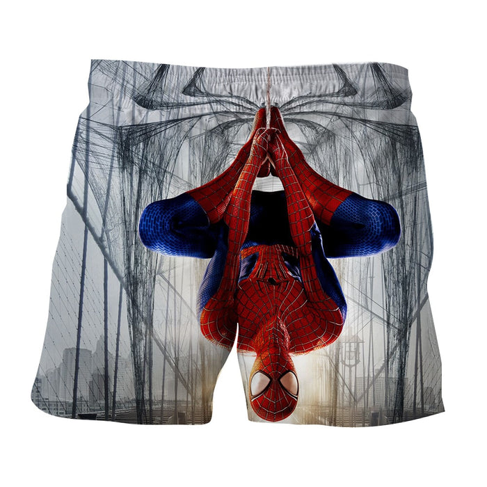 Spider-Man Rotate Mode View Unique Design Print Boardshorts