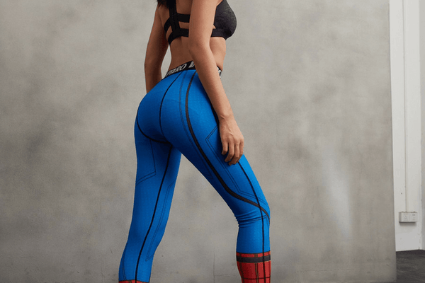 Spider-Man Theme 3D Funky Design Women Compression Fitness Leggings