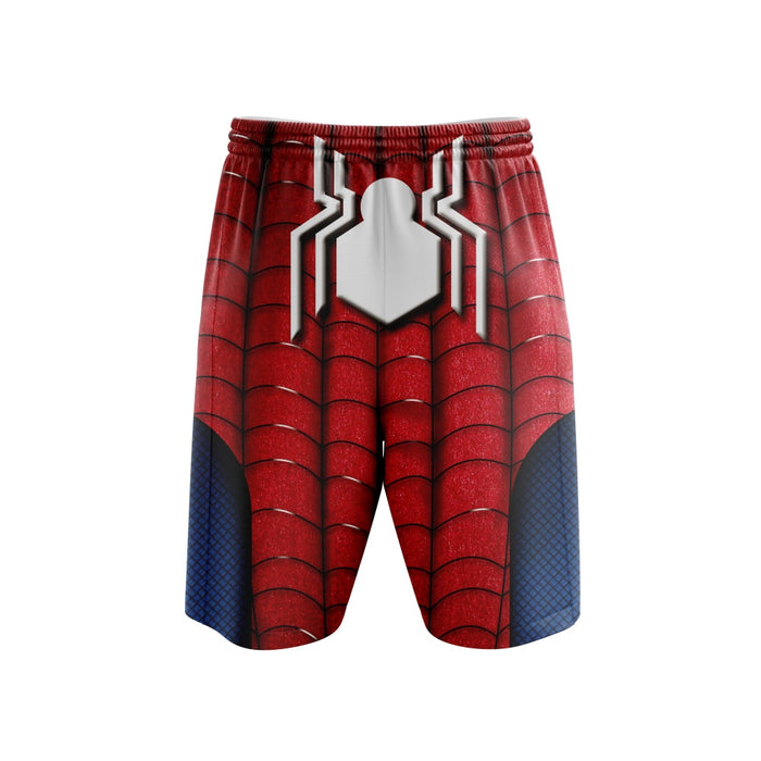 Spider Man Cosplay Red Blue 3D Boardshorts Swim Trunks