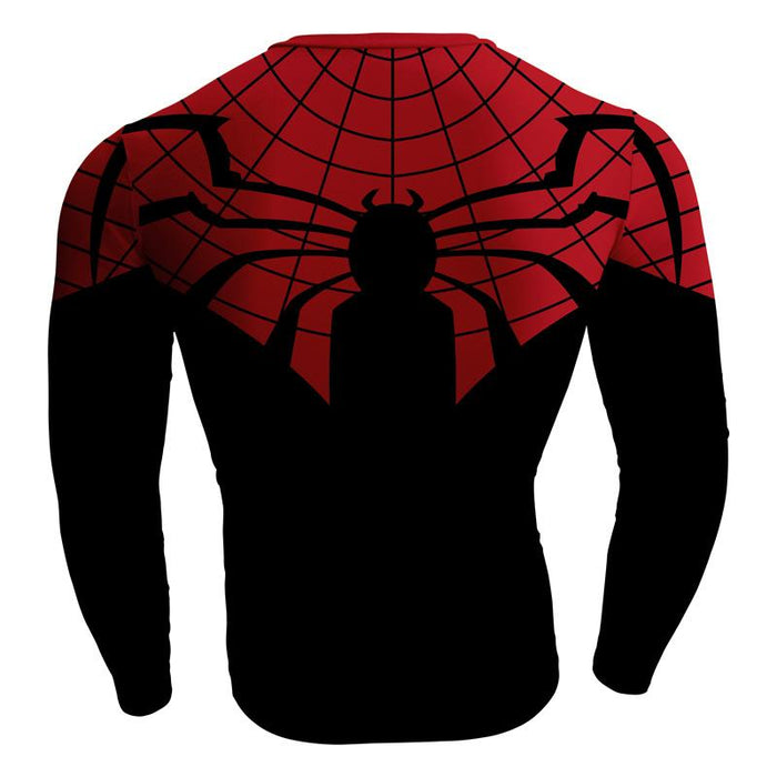 Spiderman Marvel Superhero Long Sleeves Compression T-shirt