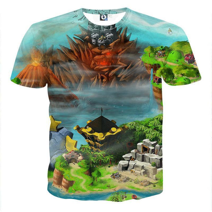 Super Mario Castle Defender Game Vibrant Color Design T-Shirt
