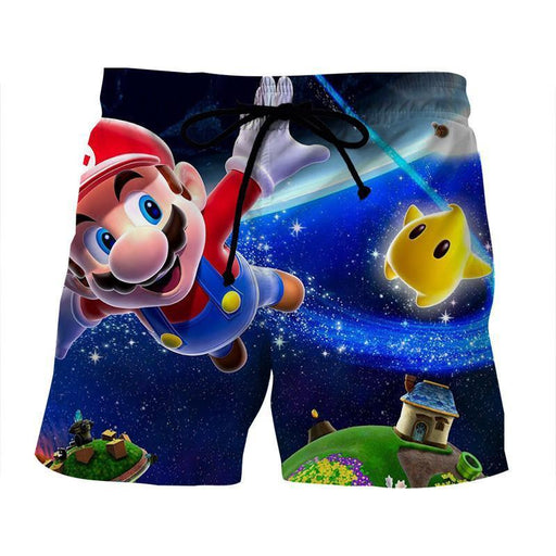 Super Mario Galaxy Awesome 3D Model Full Printed Shorts