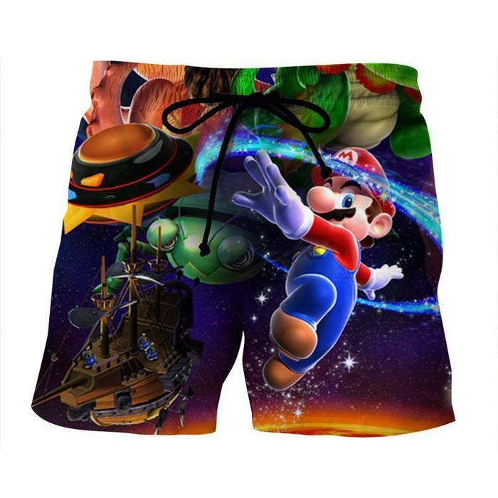 Super Mario Galaxy Sky Frigate Vivid Color Summer Shorts