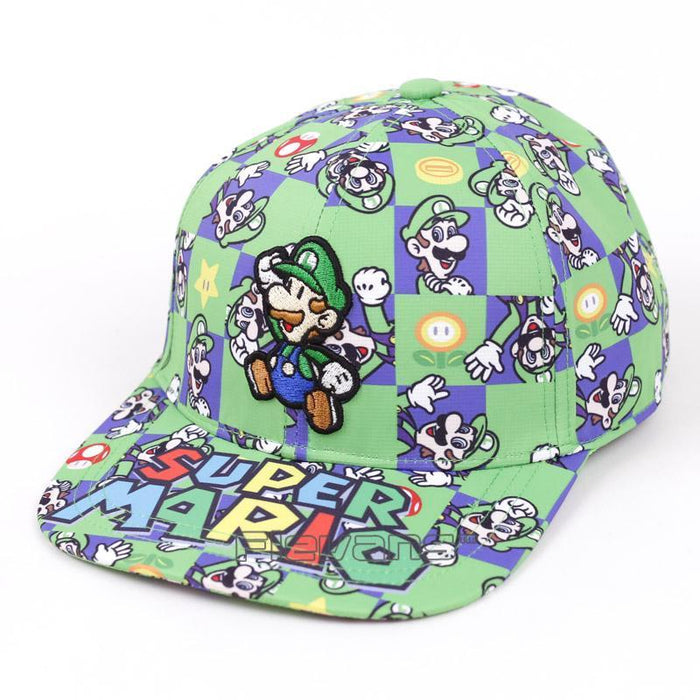 Super Mario Luigi All Style Green Streetwear Cool Baseball Hat Cap