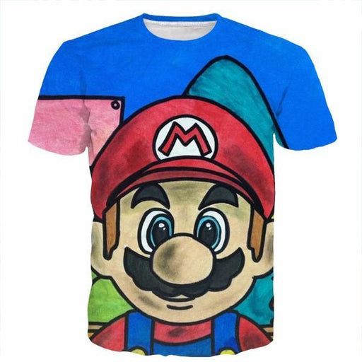 Super Mario Nintendo Doodle Style Color Legend Game Dope T-Shirt