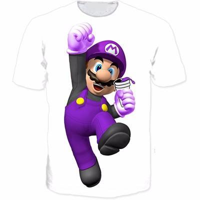 Super Mario Purple Nintendo Legendary Game Geek Design T-Shirt