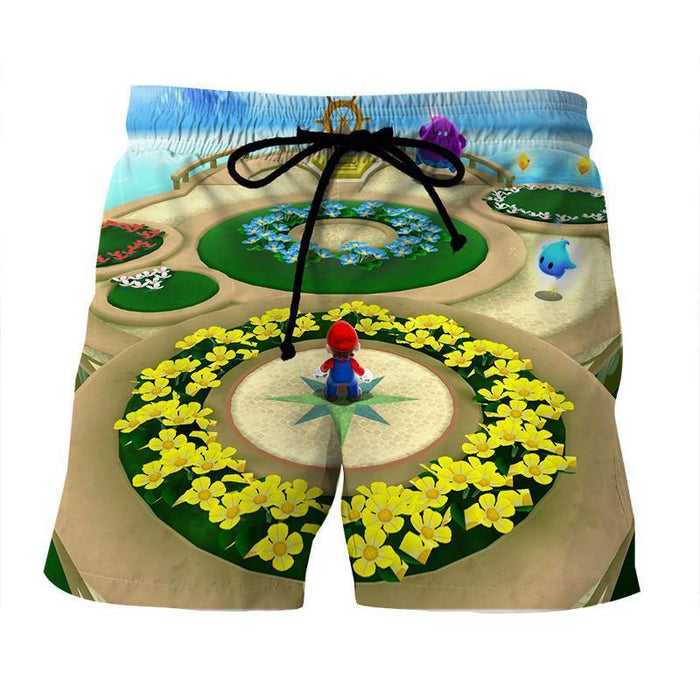 Super Mario Skyship Edition Cool Map Color Summer Shorts