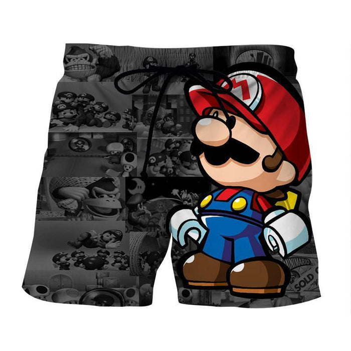 Super Mario collab Lego Figure Cool Streetwear Trunks Shorts