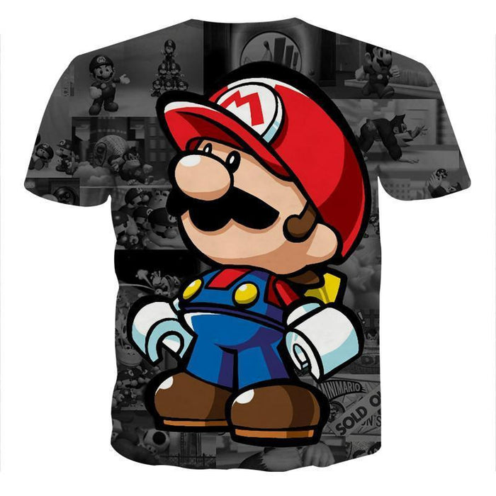 Super Mario collab Lego Figure Cool Style Streetwear T-Shirt