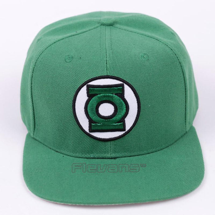 Superhero Green Lantern Logo Cool Snapback Baseball Hat Cap