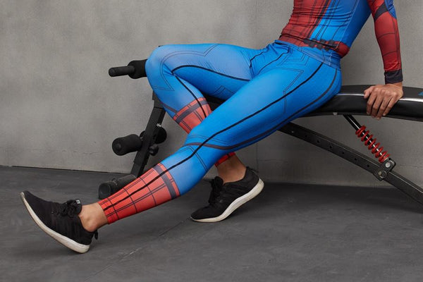 Superheroes 3D Printed Spiderman Men Compression Tight Fitness Pants