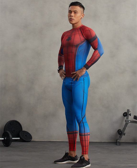 Superheroes 3D Printed Spiderman Compression Unisex Tight Fitness Pants
